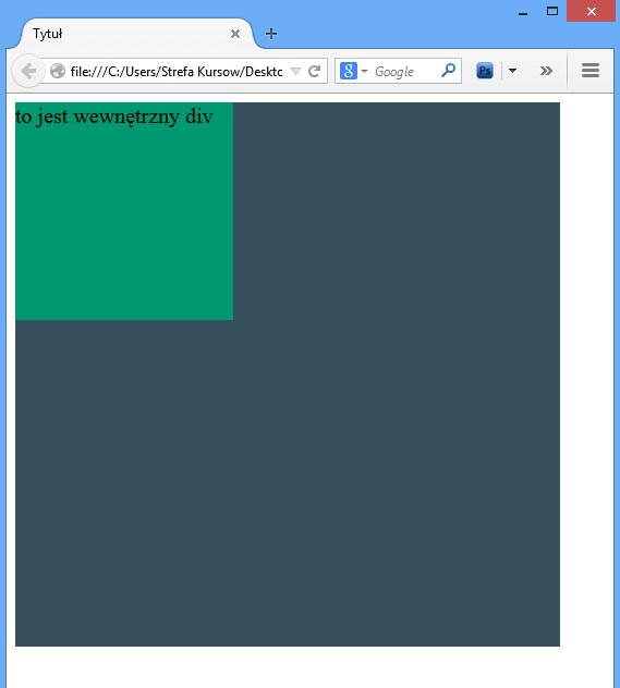 CSS - elementy pozycjonowane absolutnie