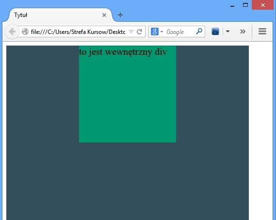 CSS - środkowanie - pozycjonowanie absolutne