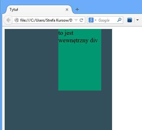 CSS - pozycjonowanie płynnego elementu