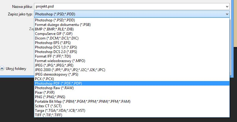 Zapis PDF