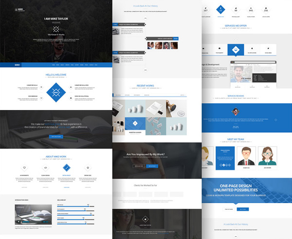 Trendy w Web Design 2016 - One Page