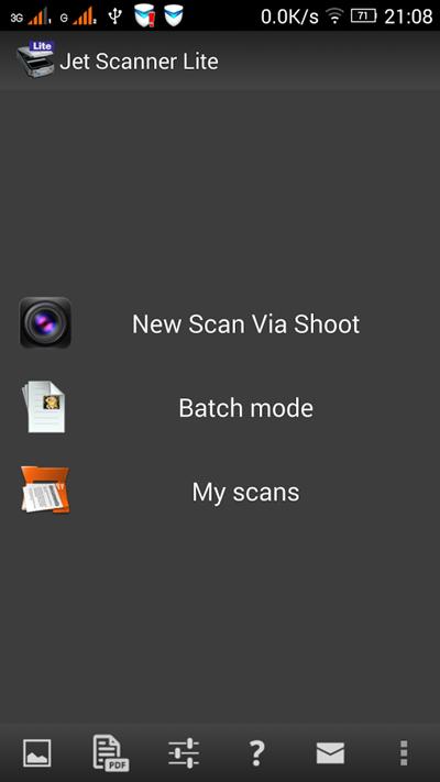 Aplikacja mobilna JetScanner