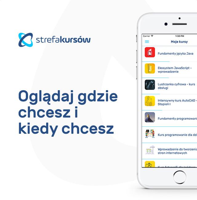 Aplikacja mobilna Strefa Kursów
