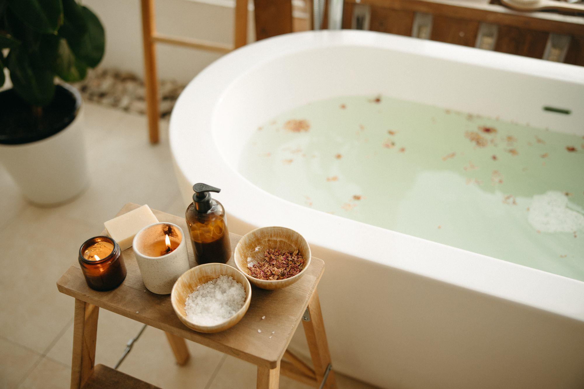sposób na stres - ciepła kąpiel