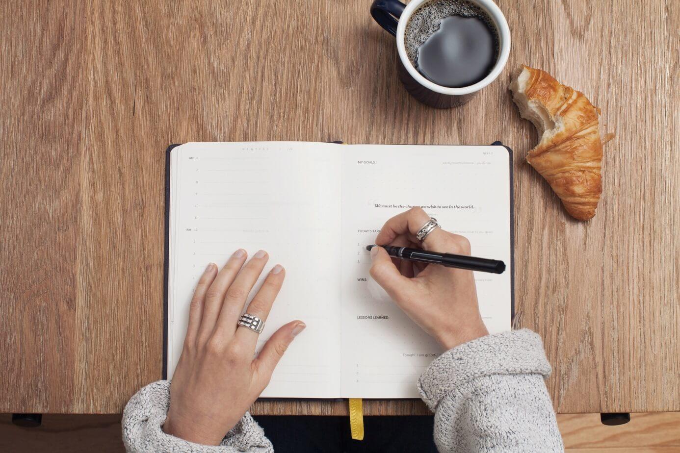 zapisywanie zadań w notatniku