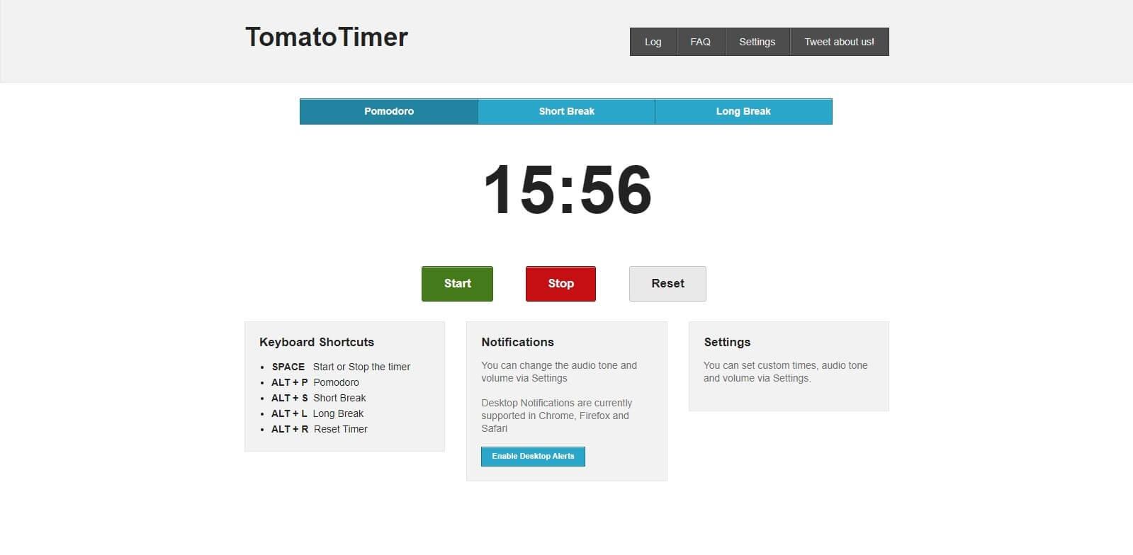 aplikacja pomodoro - TomatoTimer