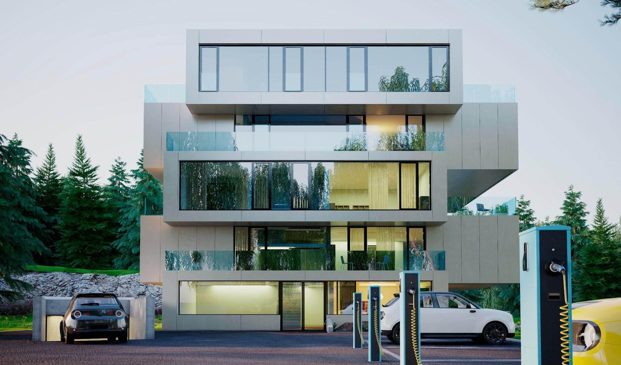 wizualizacja budynku 3D
