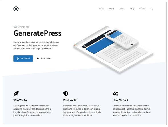 bezpłatny motyw - generate press